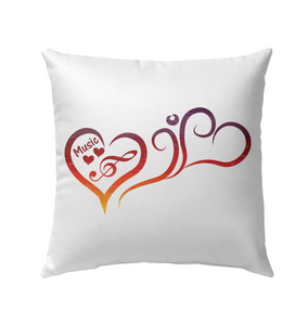 Hearts Music Fun - Outdoor Pillow