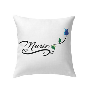 Music and Tulips - Indoor Pillow
