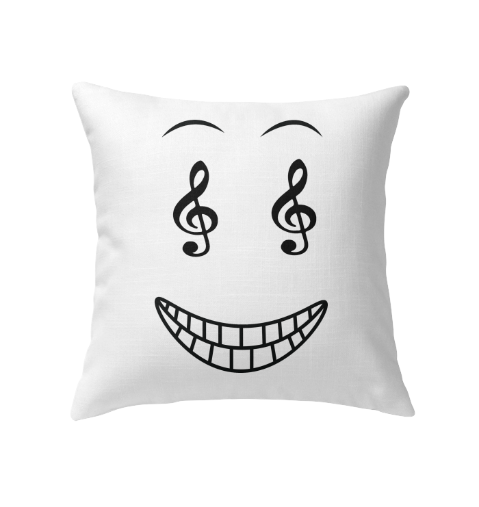 Happy Treble Face - Indoor Pillow