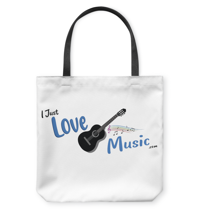 I Just LOVE Music  - Basketweave Tote Bag