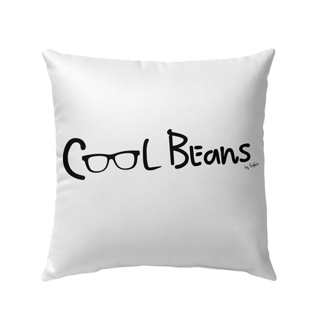 Cool Beans - Black (Style2) - Outdoor Pillow