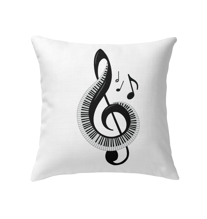 Keyboard Treble - Indoor Pillow