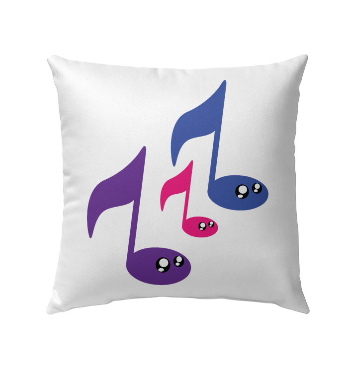 3 Note Friends - Outdoor Pillow