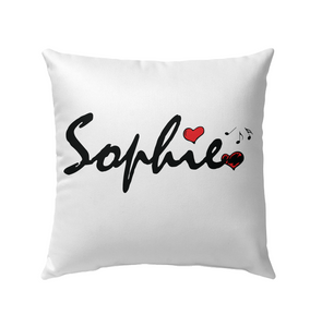 Sophie Loves Music - Outdoor Pillow