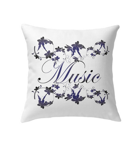 Music with Flowers - Indoor Pillow