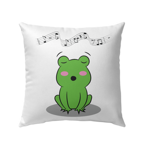 Singing Frog - Outdoor Pillow