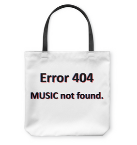 Error 404 Music Not Found - Basketweave Tote Bag