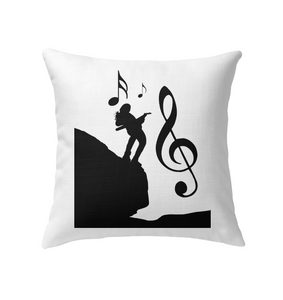 Playin Guitar on the Hill - Indoor Pillow