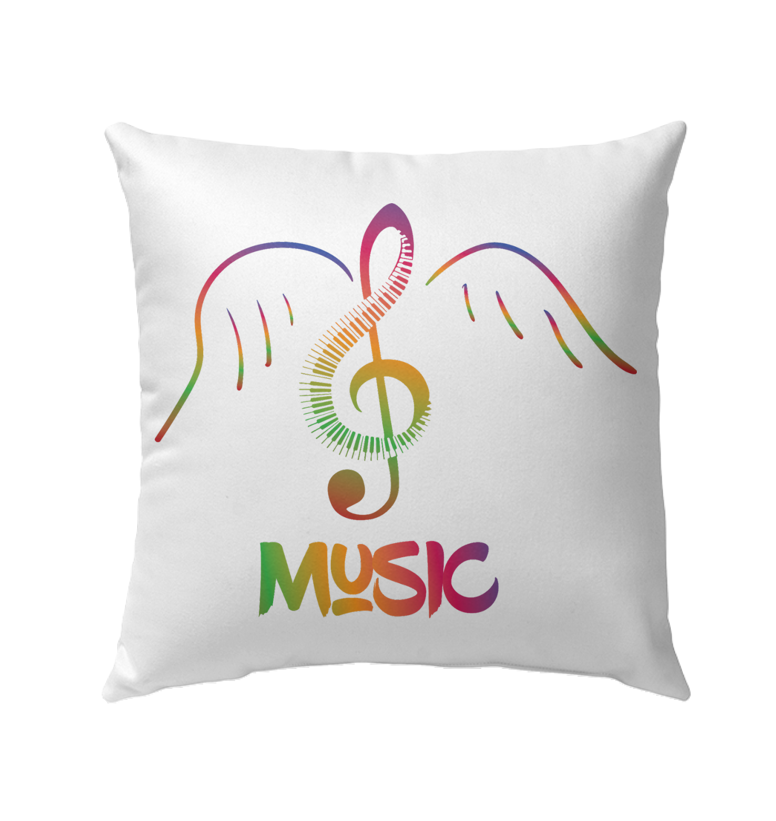 Musical Wings - Outdoor Pillow