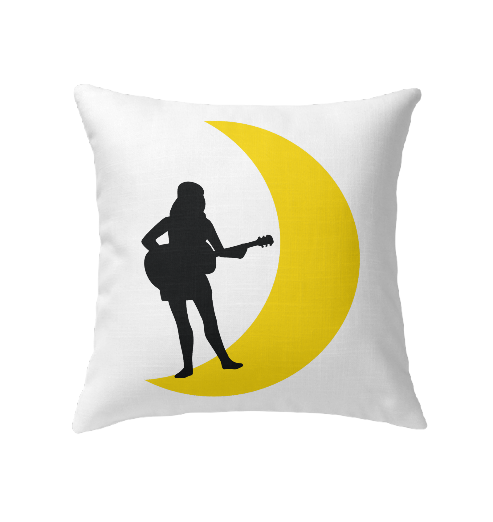 Moonlight Guitar Player - Indoor Pillow