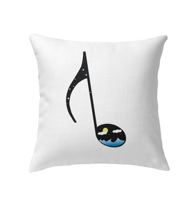 Night Seas Note - Indoor Pillow