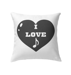 I Love Note Heart - Indoor Pillow