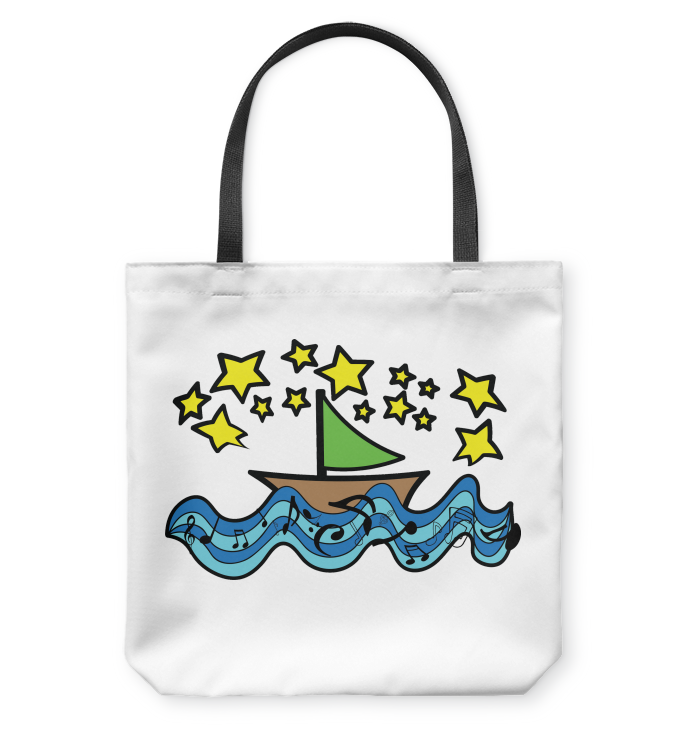 Sailing Under the Stars - Basketweave Tote Bag