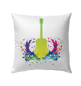 Guitar is Born - Outdoor Pillow
