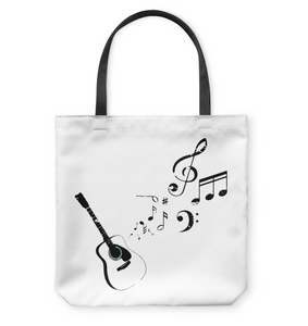 Guitar Tunes  - Basketweave Tote Bag
