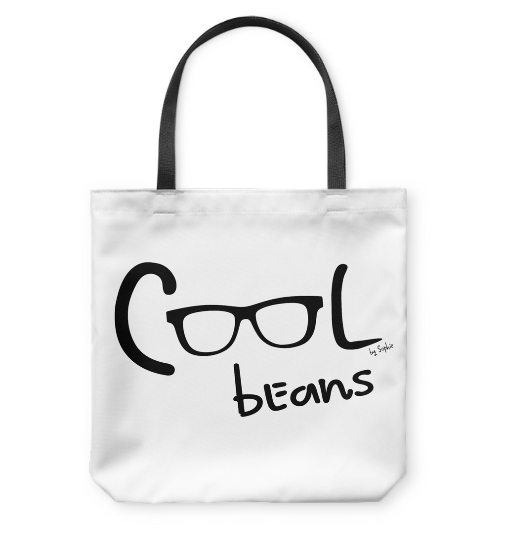 Cool Beans - Black - Basketweave Tote Bag