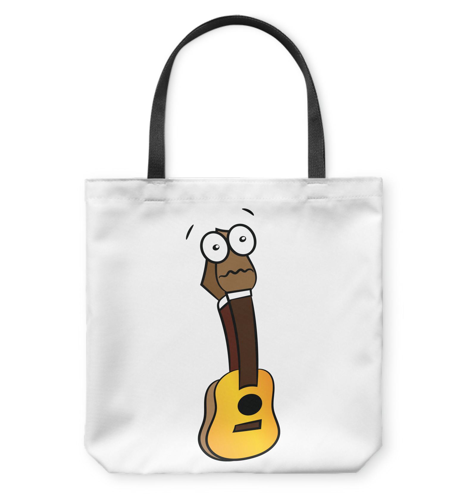 Silenced Guitar - Basketweave Tote Bag
