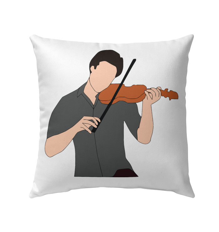 Guy Playin the Violin - Outdoor Pillow