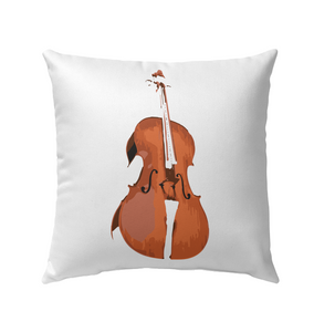 The Cello - Outdoor Pillow