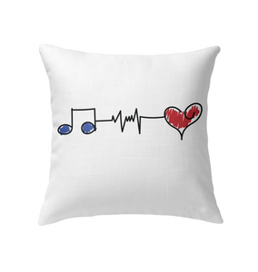Musical Connections Blue - Indoor Pillow
