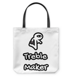 Treble Maker Robber White - Basketweave Tote Bag