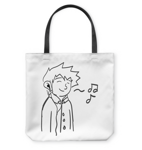 Listening to my Song - Basketweave Tote Bag