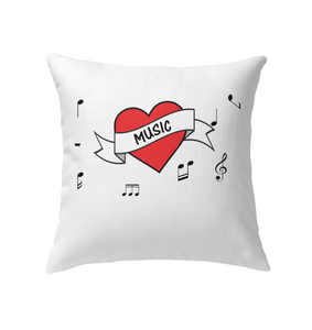 Musical Heart - Indoor Pillow