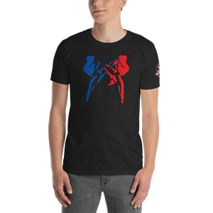 Savate Silhouette / USSF Sleeve / Kensho  Black Unisex T-Shirt