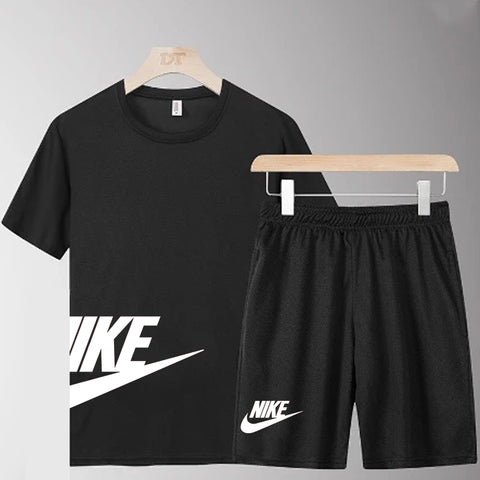 NIKE Black Summer Black T-Shirt and Short Set