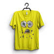 Yellow Cotton Spongebob Printed Half Sleeves Round Neck T shirt