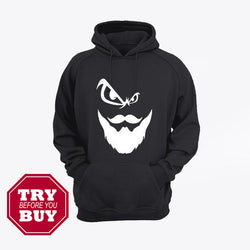 Black Beard Men Printed Hoodies Kangroo for men available now