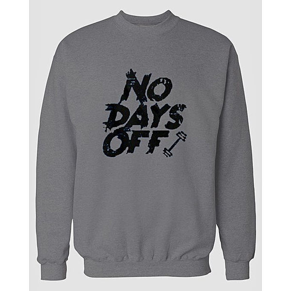 Hazel Grey Days Off Printed Sweatshirt