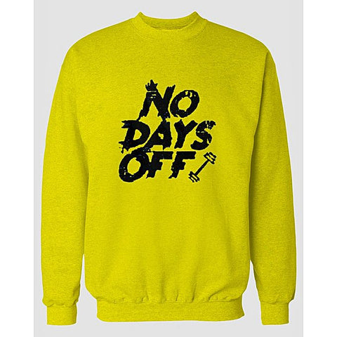 Yellow Days Off Printed Sweatshirt