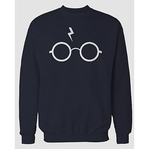 Navy Blue Harry Printed Sweatshirt