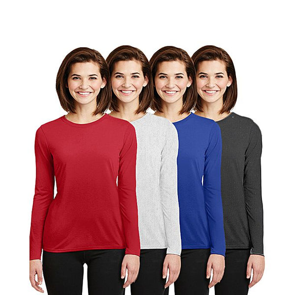 Pack of 4 Full Sleeves T-Shirts for Women