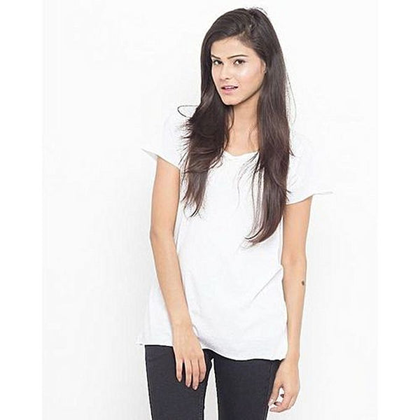 White Cotton T-Shirt For Women