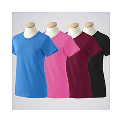 Pack Of 4 Plain T-Shirts For Women