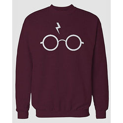 Maroon Harry Printed Sweatshirt