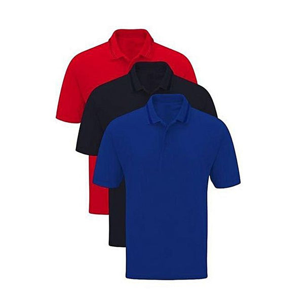 Pack Of 3 – Cotton Polo Half Sleeves Tshirts For Men