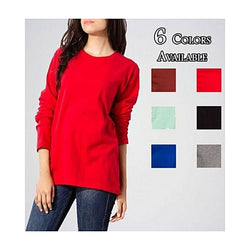 Pack of 6 Casual Plain Full Sleeves Round Neck T-Shirts for Women