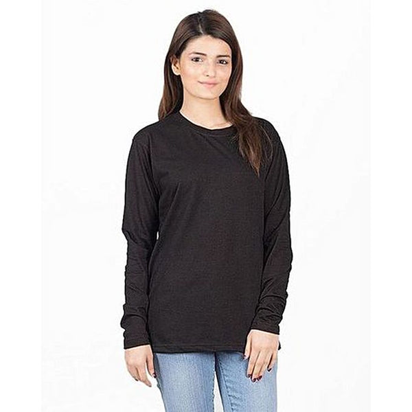 Black Cotton Tshirt for Women