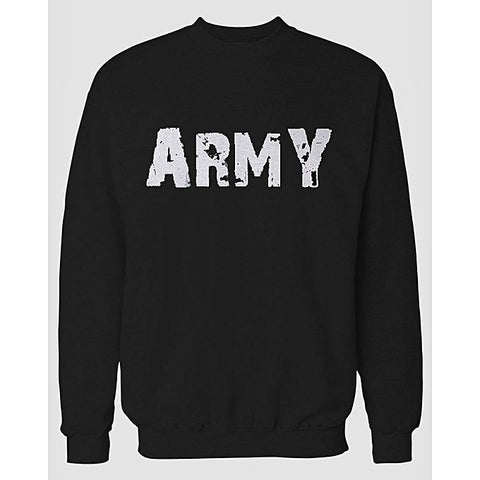 Black Army Printed Sweatshirt