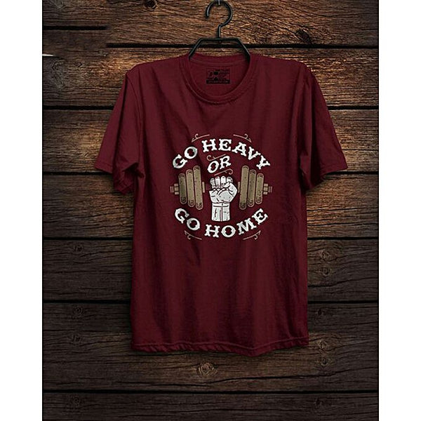 Maroon Go Heavy Printed T-shirt For Men