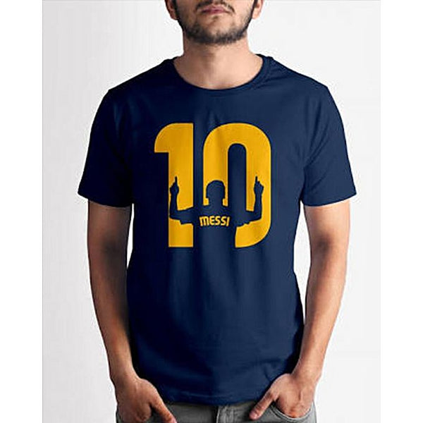 Navy Blue Messi Printed T-shirt For Men