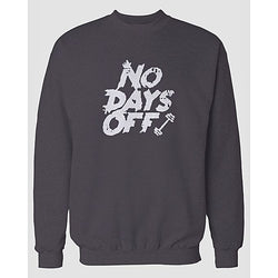 Charcoal Days Off Printed Sweatshirt
