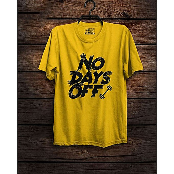 Yellow Day Off Printed T-shirt For Men