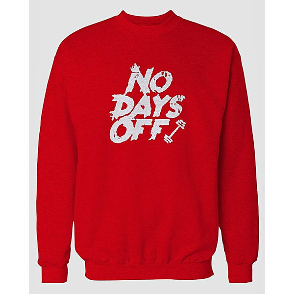 Red Days Off Printed Sweatshirt