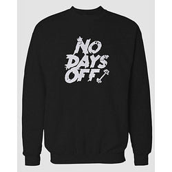 Black Days Off Printed Sweatshirt