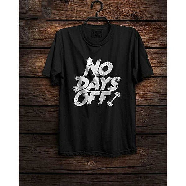 Black Day Off Printed T-shirt For Men