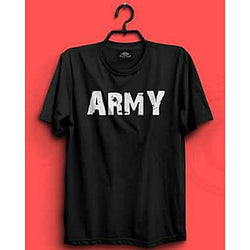 Black Army Printed T-shirt For Men